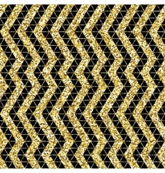 Tribal glitter golden seamless pattern vector image