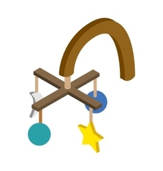 Baby hanging isometric 3d icon vector