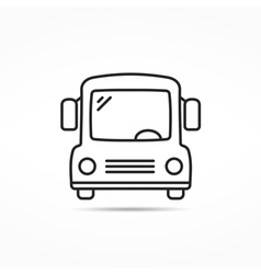 School bus line icon vector