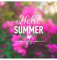Summer card with flowers background and text vector