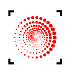 abstract technology circles sign red icon vector image