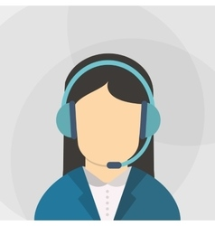 Call center design communication icon flat vector