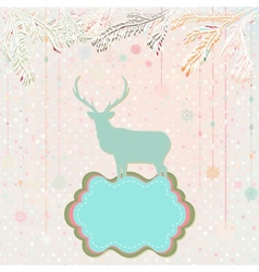 Christmas background card template EPS 8 vector image vector image