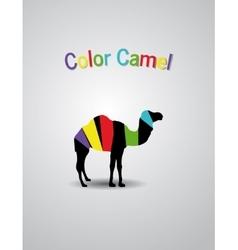 Colored logo camel vector