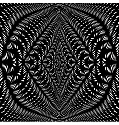 Design symmetric lacy warped pattern vector