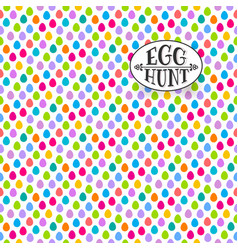 easter egg hunt seamless pattern vector image vector image
