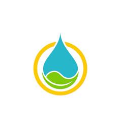 Eco waterdrop nature bio logo vector