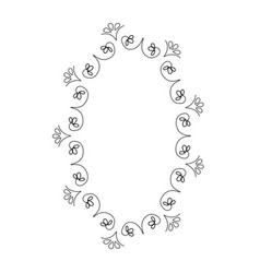 elegant victorian with circular shaped frame vector image