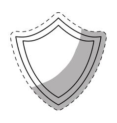 figure shield icon image design vector image