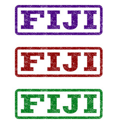 Fiji watermark stamp vector