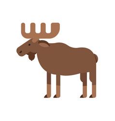 Flat style of elk vector