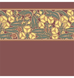floral pattern in modern style 10 vector image vector image