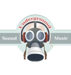 Gas mask logo vector