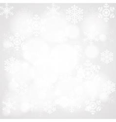 glowing snowflakes vector image vector image