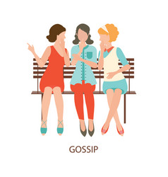 Gossiping girls design vector
