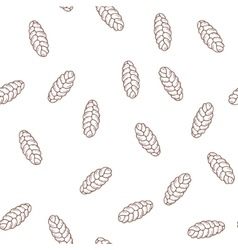 Hand drawn cupcakes seamless pattern Print for vector image vector image