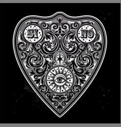 Hand drawn vintage magic ouija board oracle vector