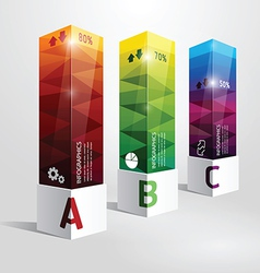 Infographic template modern box design vector