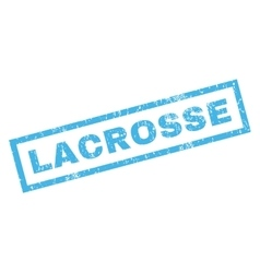 Lacrosse rubber stamp vector