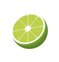 Lemon citrus fruit fresh half vector