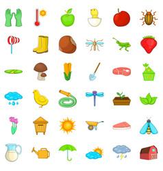 strawberry icons set isometric style vector image