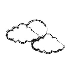 sun and clouds icon image vector image vector image