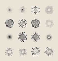 Sunbursts Pack vector image