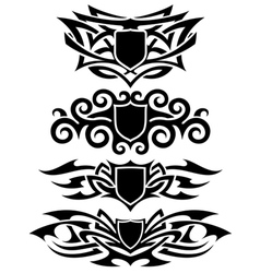 tattoo shields set vector image