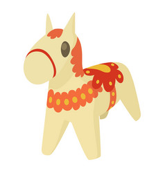 Toy horse icon cartoon style vector