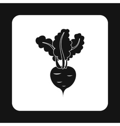 Turnip icon simple style vector