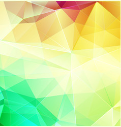 Yellow and green abstract mosaic background with vector
