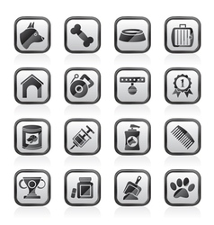 Dog and Cynology object icons vector image