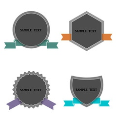 Four labels in retro style vector image
