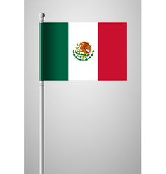 Flag of mexico national flag on flagpole vector