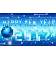 Happy new year 2017style technology background vector