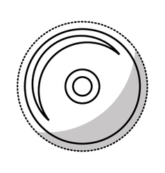 Compact disk audio device icon vector