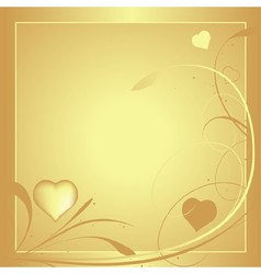 Gold valentine card vector
