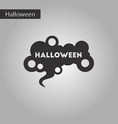 black and white style icon halloween sign vector image