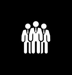 team icon business concept flat design vector image