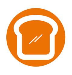 delicious bread slice isolated icon vector image