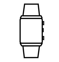 Digital watch icon vector