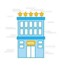 Luxury hotel rest break vector