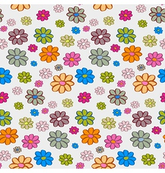 Retro Flowers Seamless Pattern Background vector image