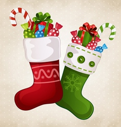 Stocking with gifts vector