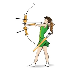 Sports archery vector