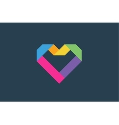 Heart icons logo vector