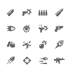 Simple weapon icons vector