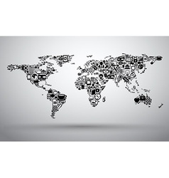 map of business world vector image
