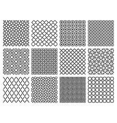Islamic patterns set vector