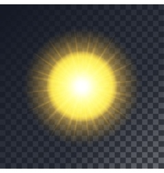 Yellow sun with rays vector